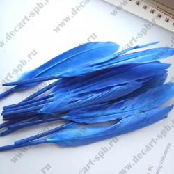 Перья синий 12-17см 10шт