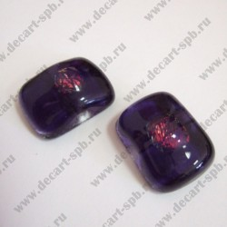 """Бусина стеклянная 17х22мм фиолет """"волшебная"""" авторская"""