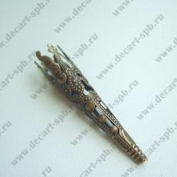 Шапочка декоративная (конус резной, бронза)