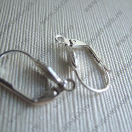 Швензы с кольцом закругленные (серебро) пара