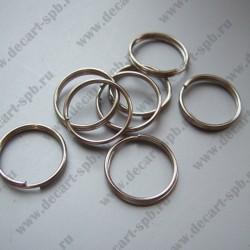 Кольцо двойное 7мм (никель) 25 шт
