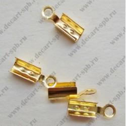 Зажим для маскировки узла ( золото) 2х6 мм 10шт