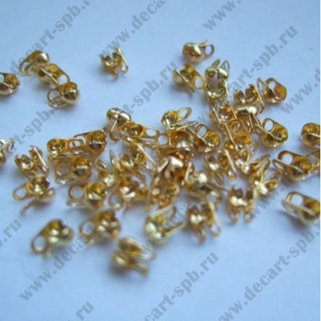 Калотты 3мм золото 10 шт