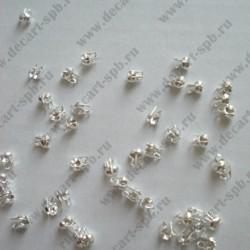Калотты 3мм серебро 10 шт