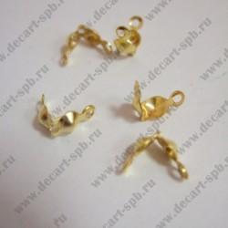 Калоты укрепленные (2 ушка) золото 10шт