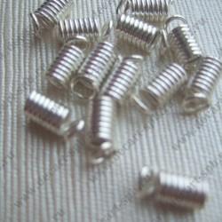 """Концевик """"пружина"""" 4х8мм серебро"""