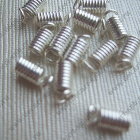 "Концевик ""пружина"" 4.5мм серебро"