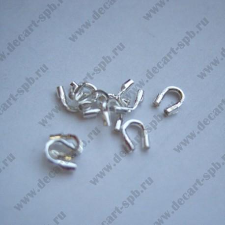 Защита от перетирания ланки 4х5мм серебро 10шт