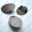 Заготовка для броши (площадка овал 25х18мм) бронза