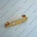 Заготовка для броши малая (золото) 25мм