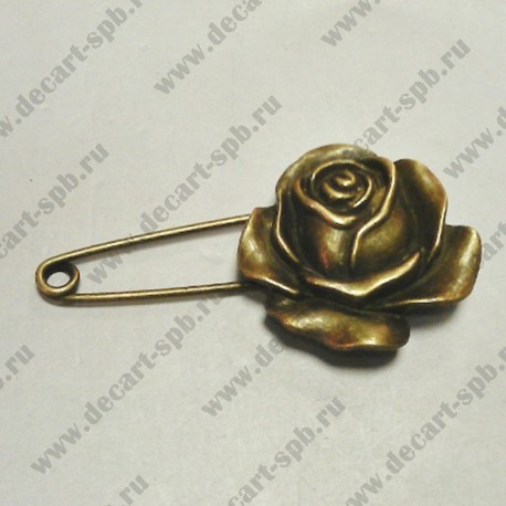 Заготовка для броши Роза 5.9cm x 3.1cm
