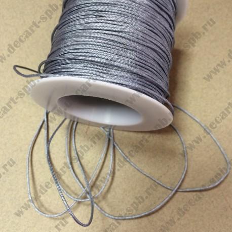 Шнур нейлоновый 1,2см серый