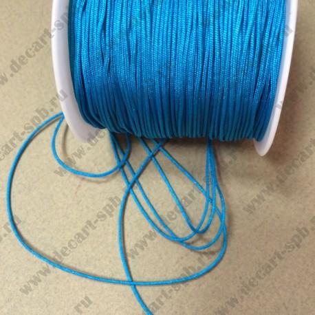 Шнур нейлоновый 1,2см голубой