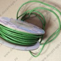 Шнур кожаный 2мм, зеленый, 1м