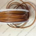 Шнур кожаный 2мм, коричневый, 1м
