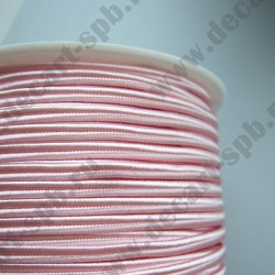 Сутаж 4мм розовый 1м Греция