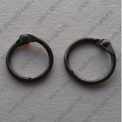 Кольца для альбома 35мм черный никель 2шт