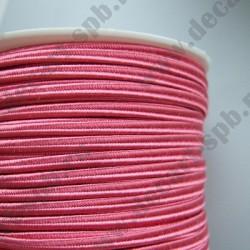 Сутаж 4мм ярко-розовый 1м Италия
