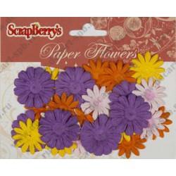 Набор цветов из шелковичной бумаги 28шт 90202