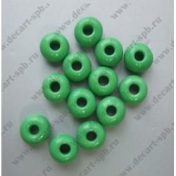 Бисер 5мм зеленый светлый 10гр Чехия