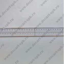 Линейка с металлическим краем и отверстиями для стежков 30х3,5см