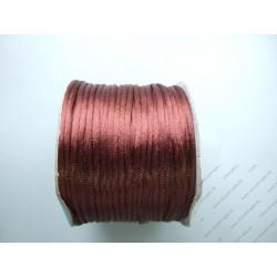 Шнур отделочный атласный 2мм коричневый 1м