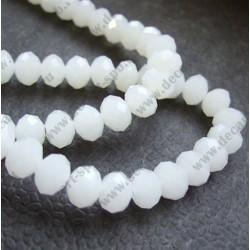 Бусина циркон (синтетический) 10х8 граненый, белый полупрозрачный