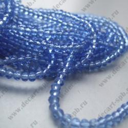Бусина циркон (синтетический) 6х4 граненый голубой