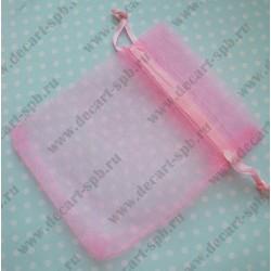 Мешочек из органзы 9х7см (розовый)