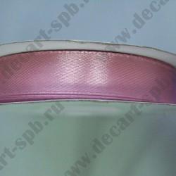Лента атласная 12мм бледно-розовая 1м