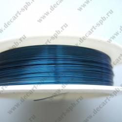 Проволока 0,3 цвет-бирюзовый 10м