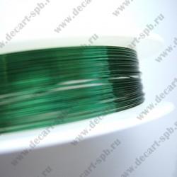 Проволока 0,3 цвет-зеленый 10м