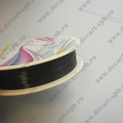 Проволока 0,3 цвет-черный 10м