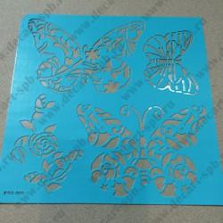 Трафарет на клеевой основе  Бабочки