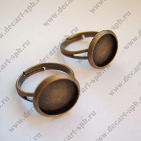 Заготовка для кольца (диск 12мм с бортиком) бронза