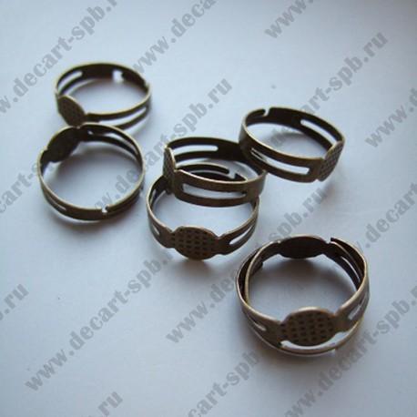 Заготовка для кольца (диск 8мм) бронза с насечкой