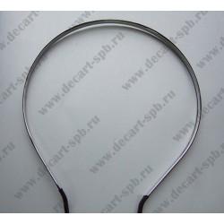 Основа для обруча простая с атласной лентой цвет - никель