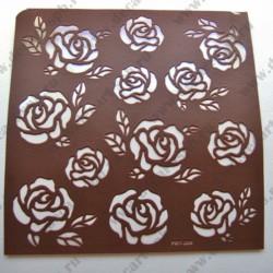 Трафарет на клеевой основе Розы