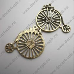 """Подвеска """"велосипед большой"""" 5см!!!! цвет-бронза с отливом латуни"""