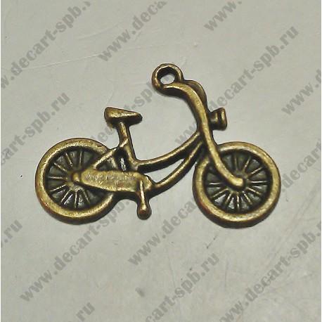 """Подвеска """"велосипед"""" 13х16 бронза"""