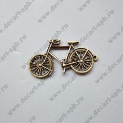 "Подвеска ""велосипед"" 20х39мм бронза"