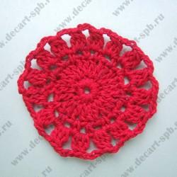 Вязаные круги красные 5 см