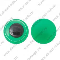 Глаза для игрушек подвижные 12мм пара зеленые