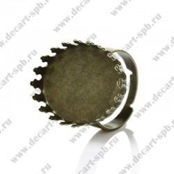 Основа для кольца  для кабошона 25мм x 18мм