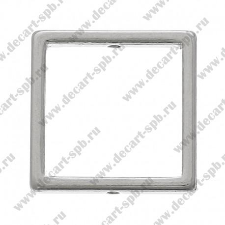 Рамки для бусин Квадратные 16мм x 16мм ант серебро