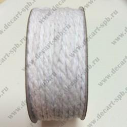 Шнур декоротивеый 2мм витой веревка 1м белый