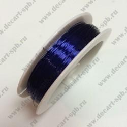 Проволока 0.2мм тонированная медь 50 м синяя