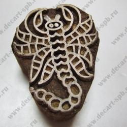 Штамп для набойки деревянный скорпион 43х35мм