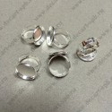 Кольцо 18.3мм с рамки для 18мм кабошона цвет серебро