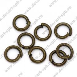 Кольцо для бус 5мм (бронза) 25 шт